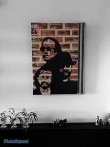 """Bee Gees""Painting by Mura F."