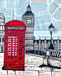 Paper pop art of London