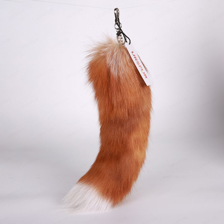 Crystal Fox Tail Fur Keychain - URSFUR
