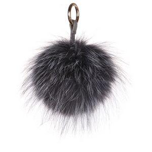 Fox Pom Keychain Raccoon