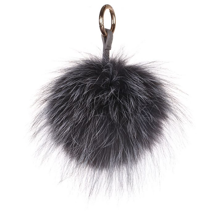 Fox Pom Keychain Raccoon - URSFUR