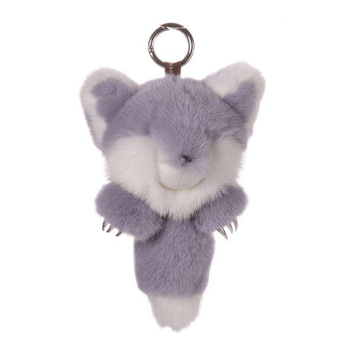 Mink Fur Keychain Monster Purple - URSFUR