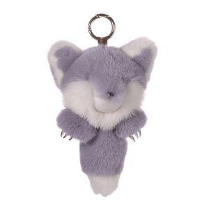 Mink Fur Keychain Monster Purple