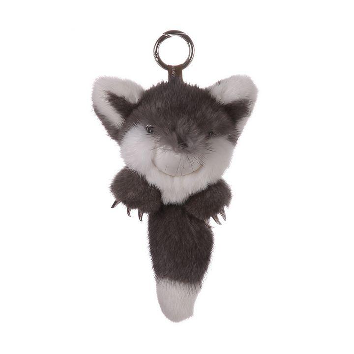 Mink Fur Keychain Monster Gray - URSFUR