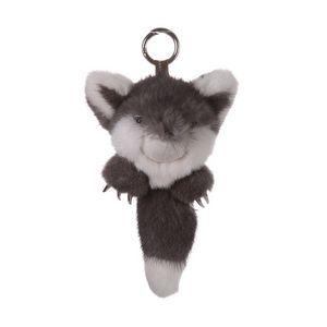 Mink Fur Keychain Monster Gray