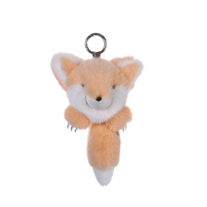 Mink Fur Keychain Monster Orange - URSFUR
