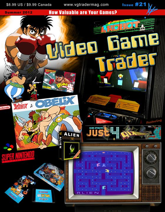 Video Game Trader #21 Cover Design - Video Game Trader Magazine