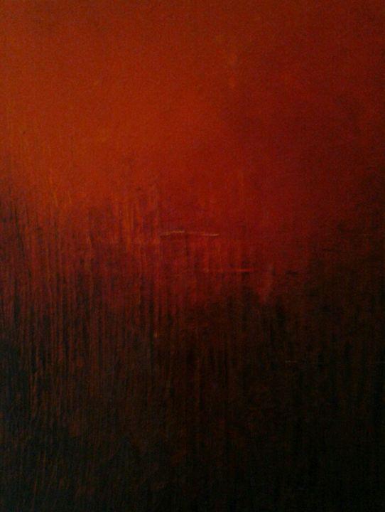 savane sous soleil rouge 2 - atelier d'art du moulin Patrick Lemoine