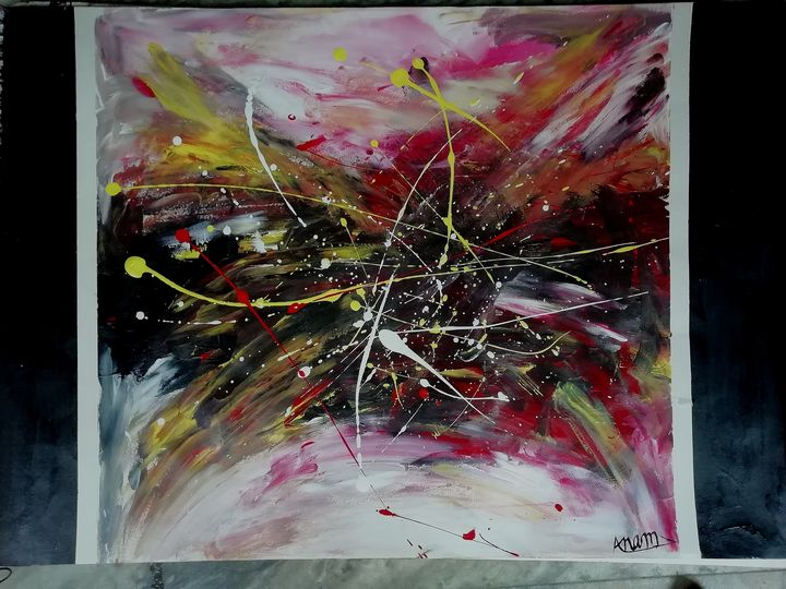 Play abstract art - Acrylic art world