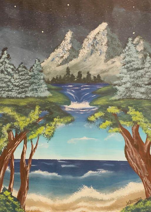 Mountain Beach - Wen's Art