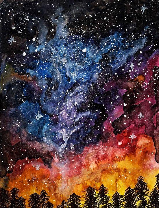 Galaxy Watercolour - A Hobbyist