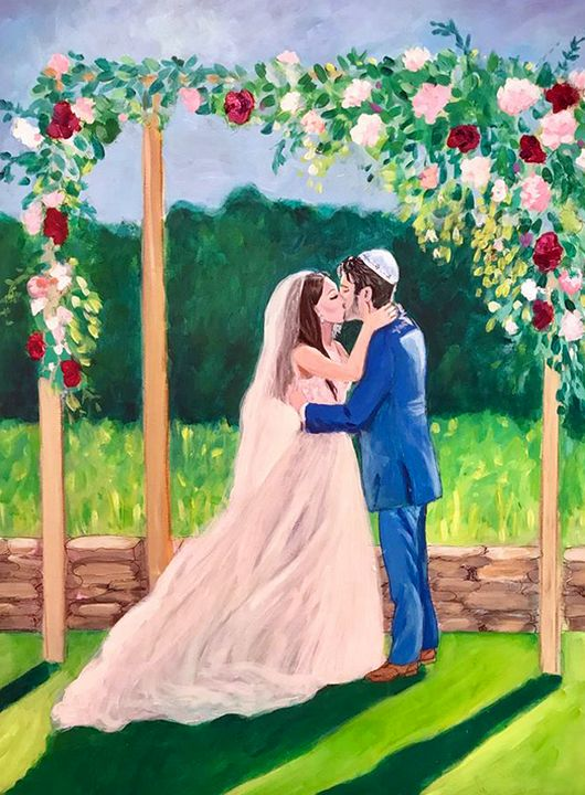 Wedding Portrait - Faye Rose Art