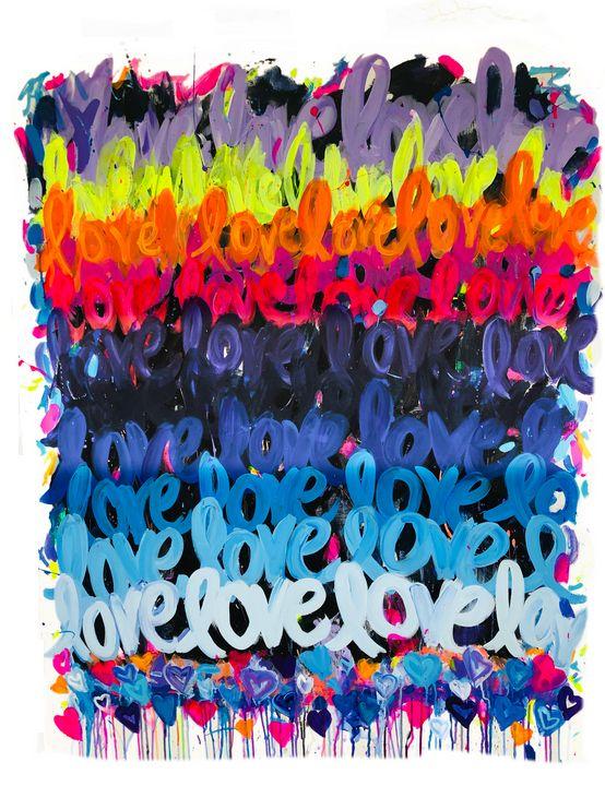 """""""LOVE"""" #1 - Faye Rose Art"""