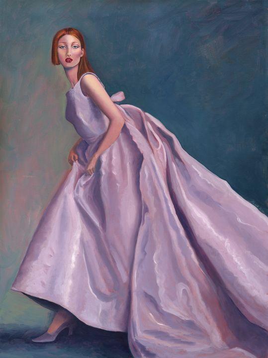 The Purple Dress - Faye Rose Art