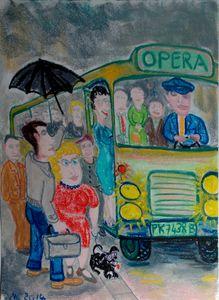 Autobus place de l'Opéra, Paris