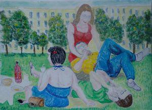 Picnic entre amis à Central Park
