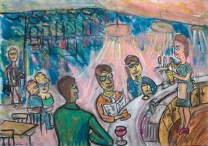 Café à Paris la conversation