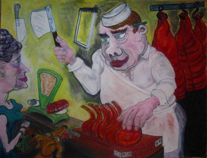Paris butcher rue des Martyrs - Mathieu Correa de Sa