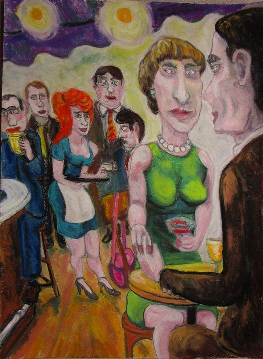 Les amoureux au restaurant - Mathieu Correa de Sa