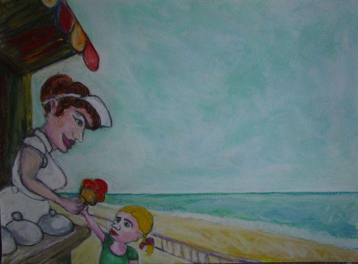 Biarritz: la marchande de glace - Mathieu Correa de Sa