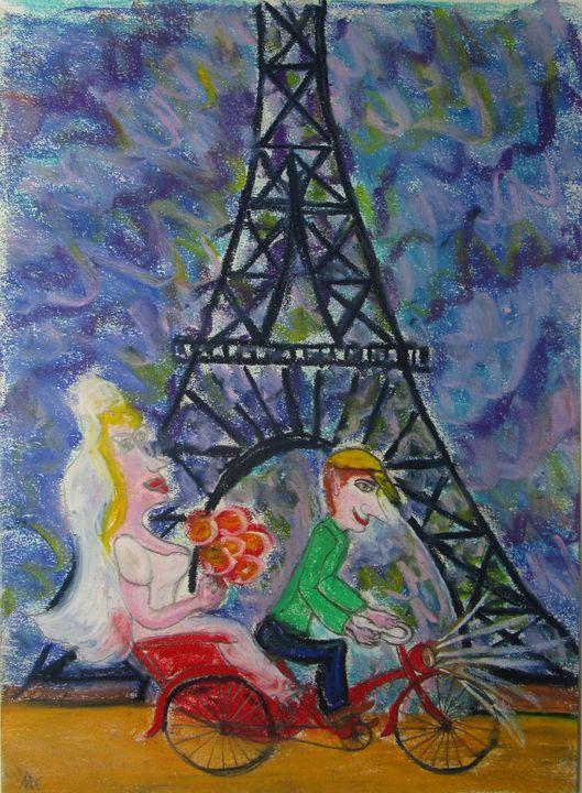 La mariée de la Tour Eiffel - Mathieu Correa de Sa