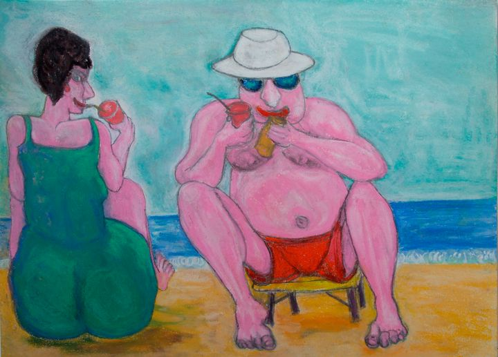 Biarritz couple sur la plage - Mathieu Correa de Sa