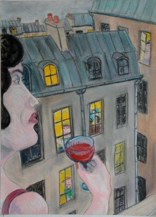 Femme à sa fenêtre - Mathieu Correa de Sa