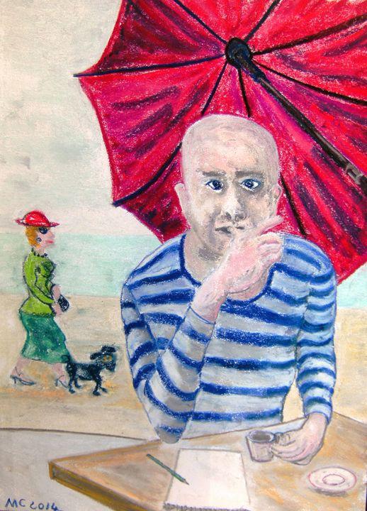 Artiste à la plage - Mathieu Correa de Sa
