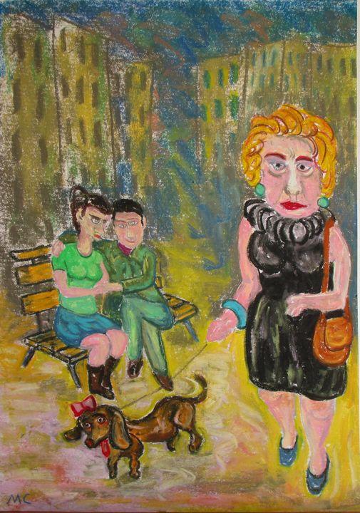 La dame au chien square Montholon - Mathieu Correa de Sa