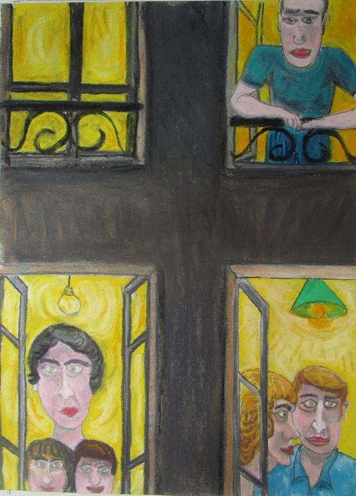 Les voisins rue Montmartre - Mathieu Correa de Sa