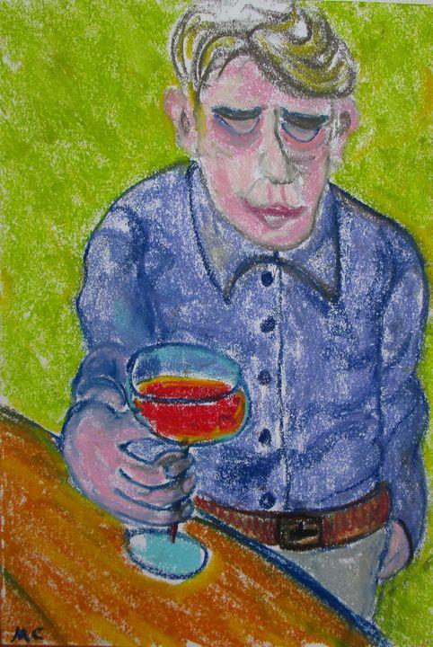 Lonely drinker buveur solitaire - Mathieu Correa de Sa