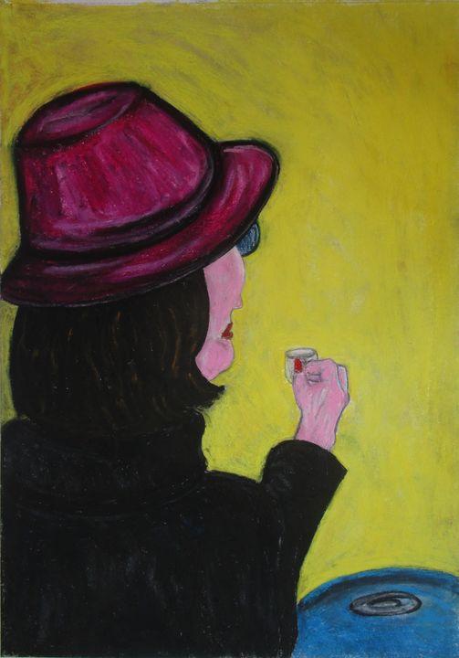 Femme au chapeau mauve - Mathieu Correa de Sa