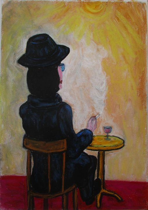 Femme au chapeau noir - Mathieu Correa de Sa