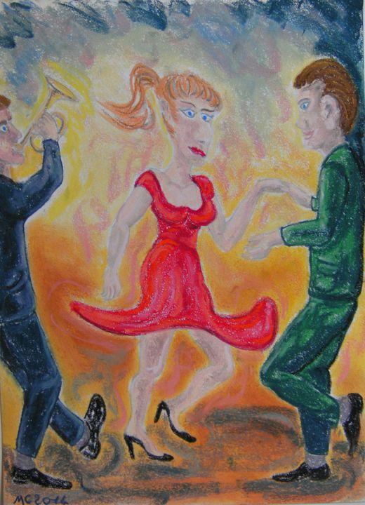 Le bal danseuse en robe rouge - Mathieu Correa de Sa