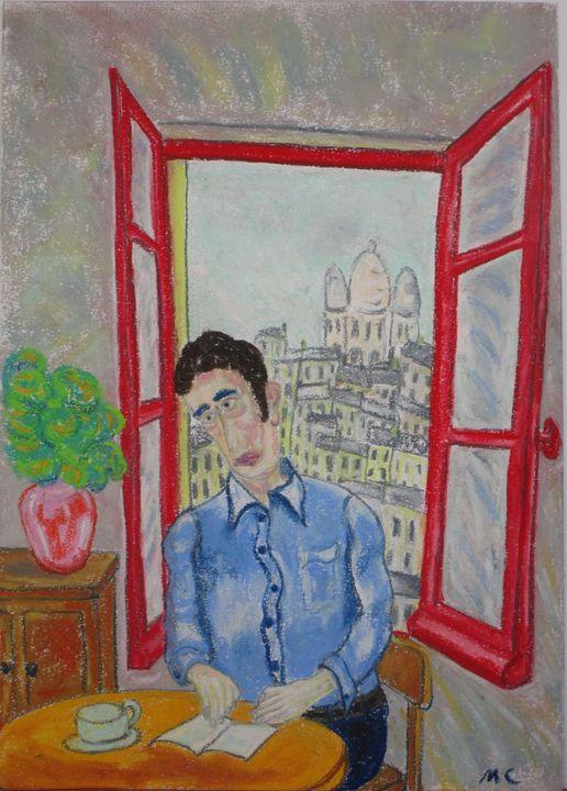 La fenêtre rouge sur Montmartre - Mathieu Correa de Sa