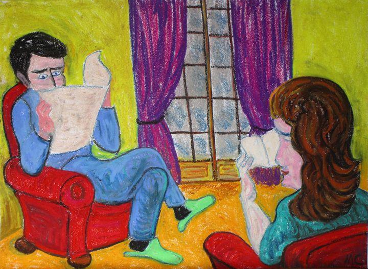 La lecture...reading - Mathieu Correa de Sa