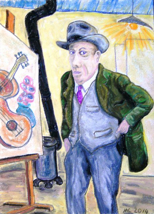 Georges Braque dans son atelier - Mathieu Correa de Sa