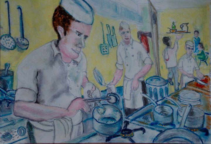 Le chef en cuisine - Mathieu Correa de Sa