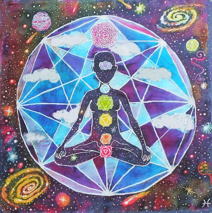 Intergalactic Beings - HeatherCollierArt
