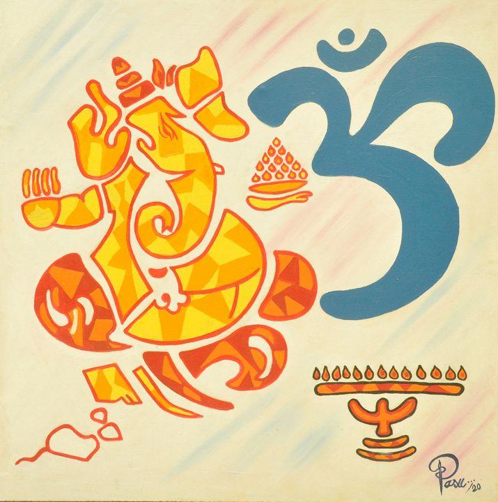 """"""" An Abstract of Lord Ganesha"""" - PASU ARTS"""