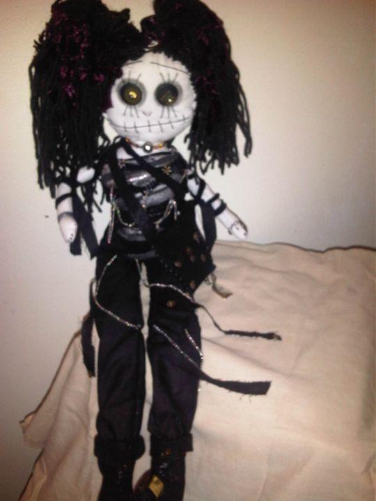 Roxy the handmade gothic art doll - Dusk Till Dawns Dolls