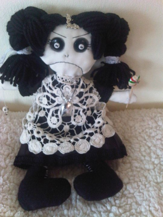 Tina Terror,handmade gothic art doll - Dusk Till Dawns Dolls