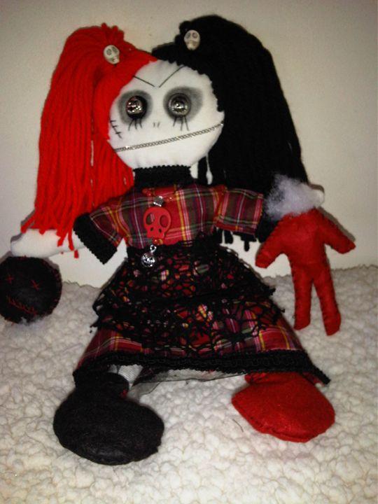 Helen Horror gothic art doll handmad - Dusk Till Dawns Dolls