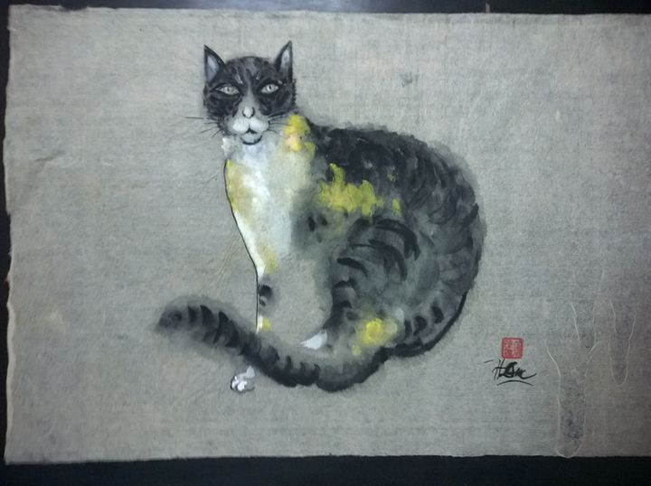 Sitting Cat - Tran Huy Duc - Horse Art
