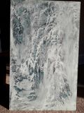 Acrylic painting on tempered glass