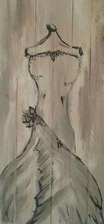 antique dress - Vanesse purves art gallery