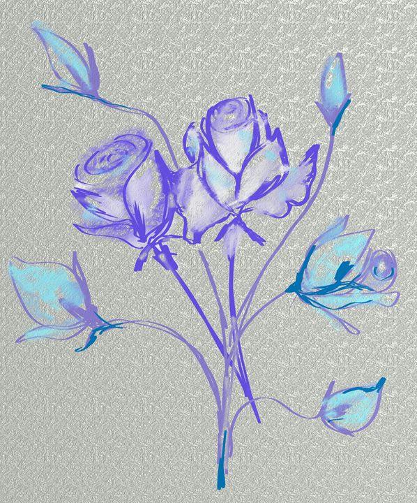 Pale blue rose - Vanesse purves art gallery
