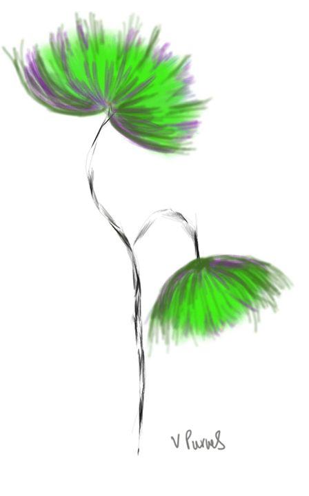green flower - Vanesse purves art gallery
