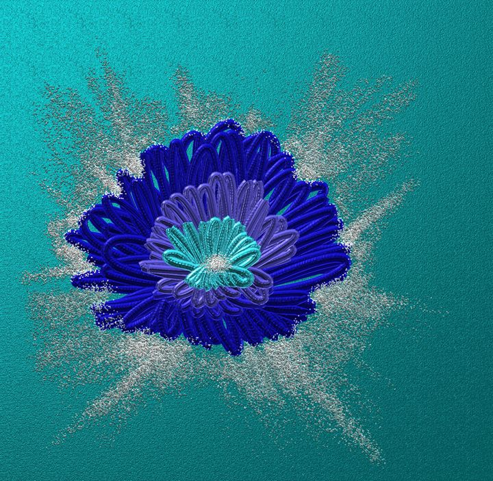 Blue daisy - Vanesse purves art gallery