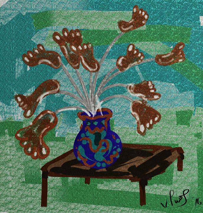 Feet flowers - Vanesse purves art gallery